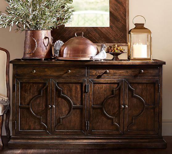 Sofa Table Decor Pottery Barn Diy Pomoysamcom Lorraine Buffet