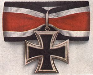The Knight's Cross of the Iron Cross was awarded to recognize extreme battlefield bravery or successful military leadership.