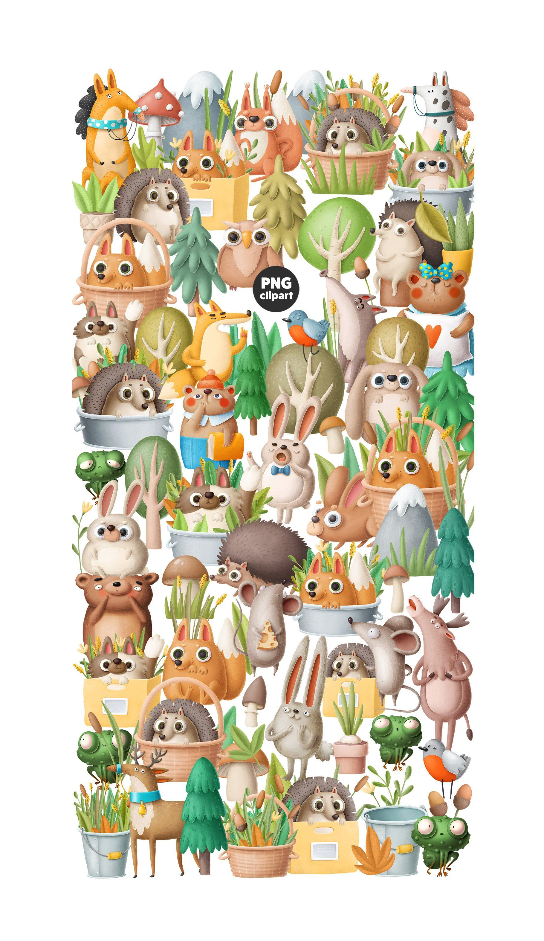 Woodland collection in 2020 Cute animal clipart