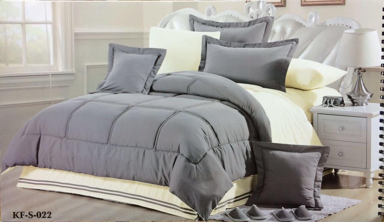 مفارش سرير لطلب واتس اب فقط 0543221247 لحاف قطن سادة وجهين نفرين ١٢ قطعه ١ لحاف منفوش سادة وجهين ٢٤٠ ٢٦٠ ١ مفرش مبطن مطاط كرنيش ٢٠٠ ٢٠٠ ٤ ك Bed Home Blanket