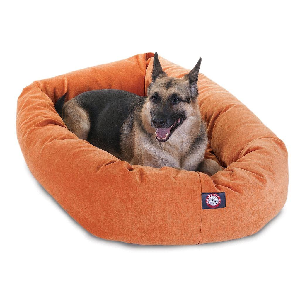 Excellent Majestic Pet Villa Bagel Pet Bed 52 X 35 Orange Creativecarmelina Interior Chair Design Creativecarmelinacom