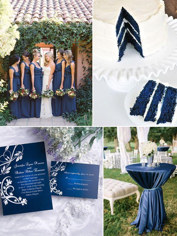 Hochzeitstrend 2015Blaue Hochzeit Inspiration Navy Blue Hochzeitskleider  Einladungen Hochzeitskarten Hochzeitstorte Ombre Tischdekoration Ideen ...