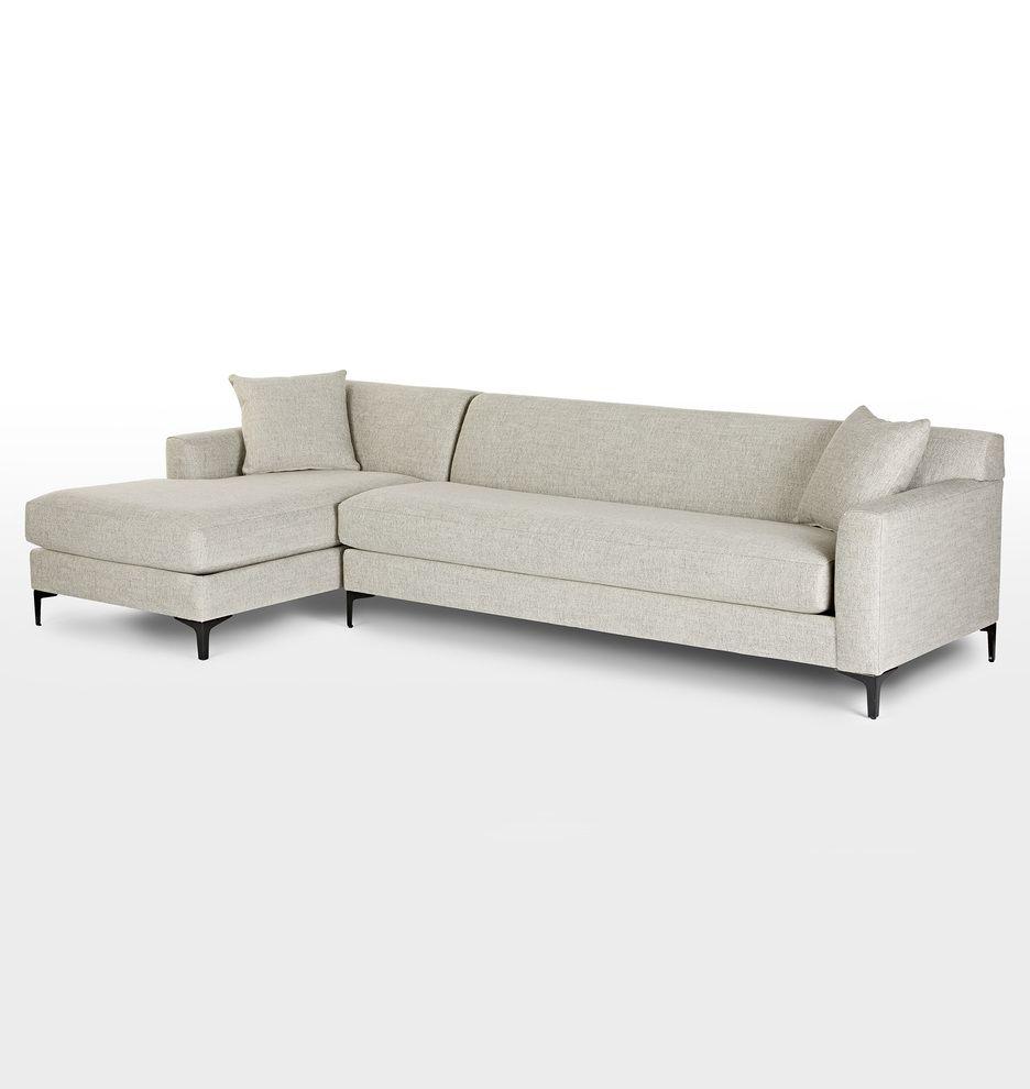 Hawthorne Sectional Sofa Chaise Left Rejuvenation Grey Round