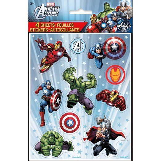 the best attitude b6b74 e2197 Marvel's Avengers Color Sticker Sheets [ 4 Per Package ...