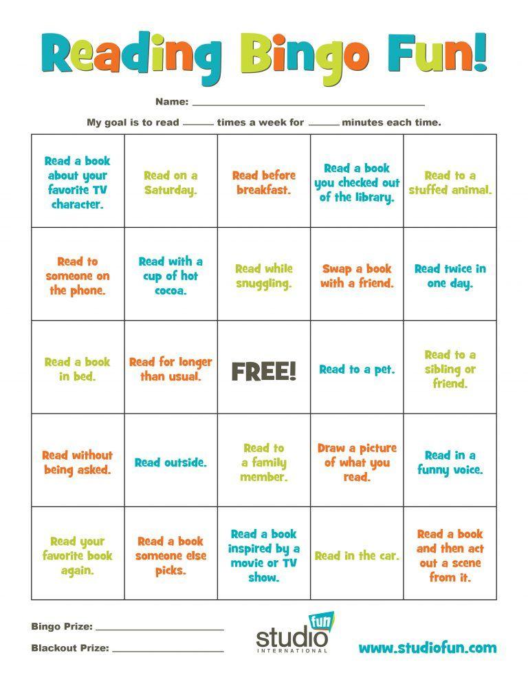 Reading Bingo for Kids | Reading bingo, Bingo for kids, Writing ...