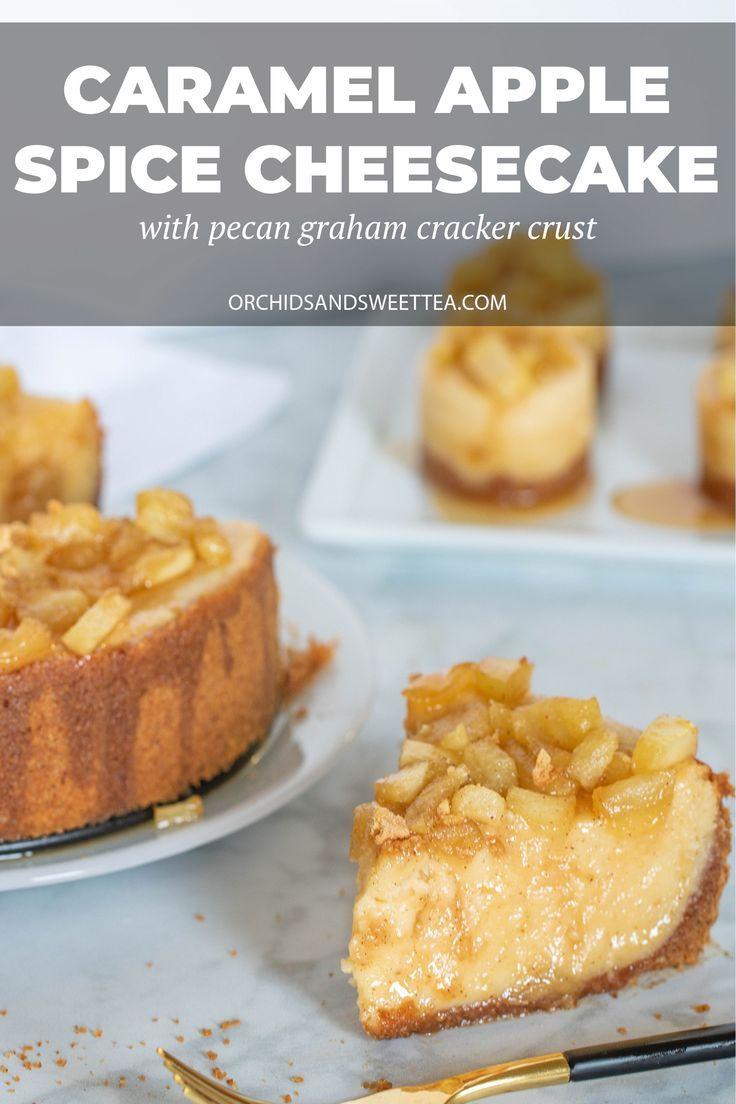 Best Caramel Apple Spice Cheesecake #caramelapples