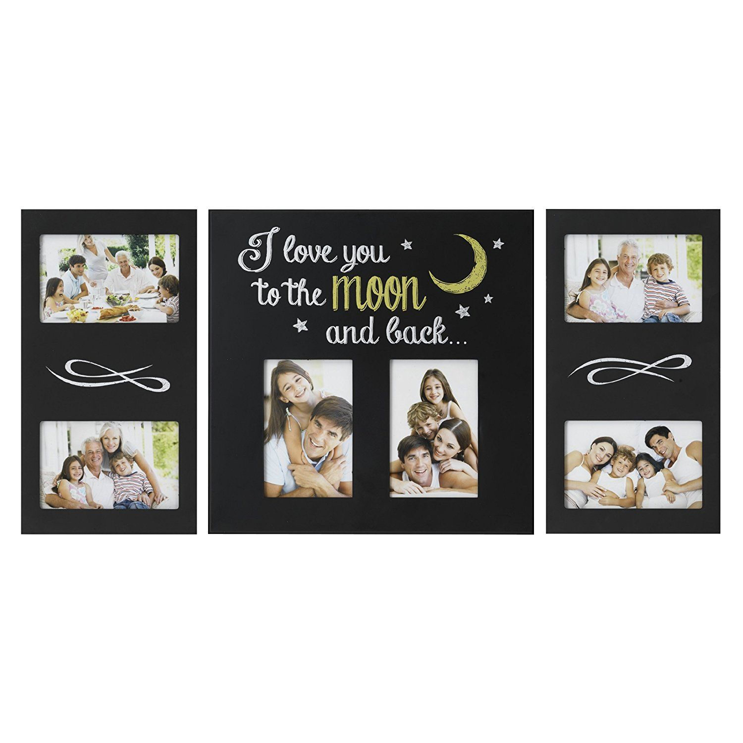 Melannco 3-Piece \'I Love You To The Moon and Back\' Plastic Collage ...