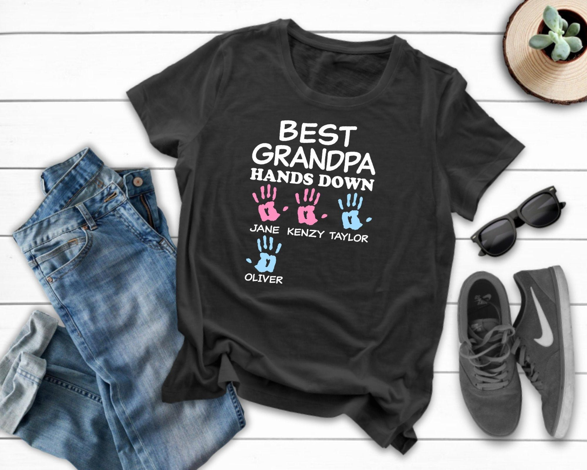 MY GRANDAD IS MY FAVOURITE PERSONALISED BABY TODDLER T SHIRT KIDS FUNNY GIFT