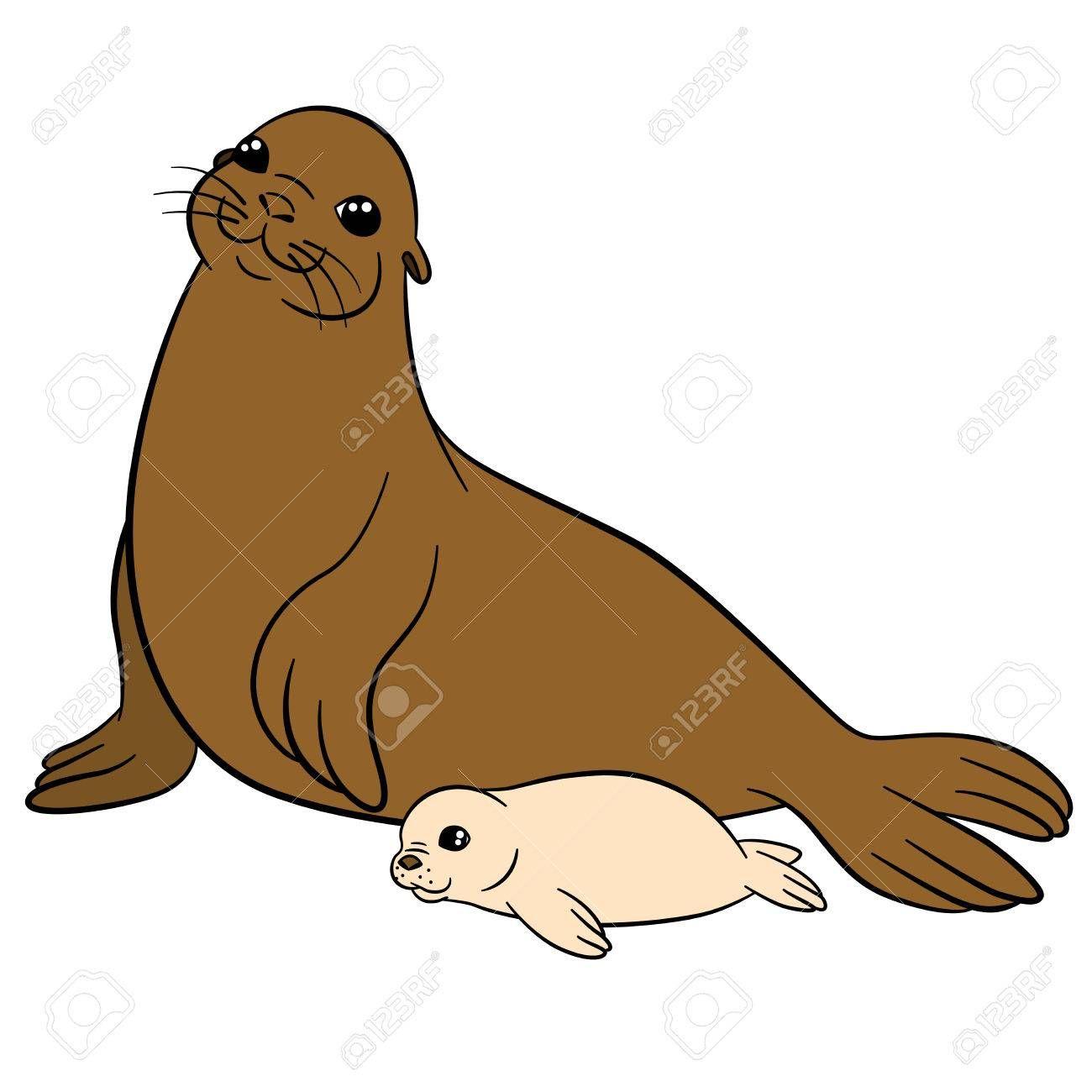 Resultado De Imagen Para Lobo De Mar Dibujo Cartoon Animals Fur Seal Cartoon