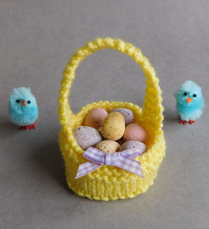 Free Last Minute Easter Knitting Patterns Easter Baskets Knitting