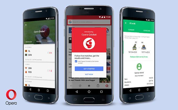 New Opera Mini Introduces Opera Cricket To Track Of Ipl 2017 Live Score Ipl 2017 Cricket Opera
