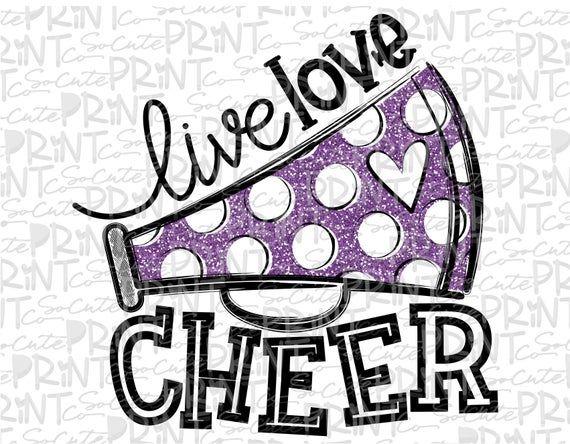 Download Live love cheer clipart football mom Megaphone clipart ...