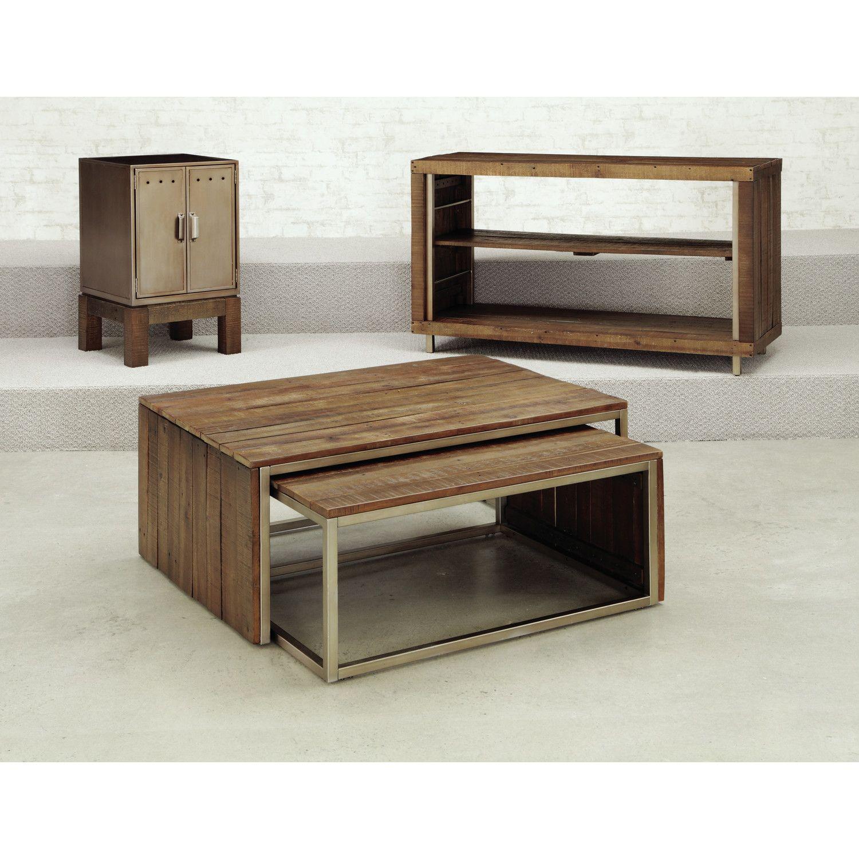 Hammary Flashback Nesting Coffee Table