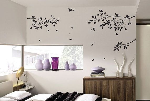 Tree Bird Flower Wall Art / Wall Stickers / Wall Decals from