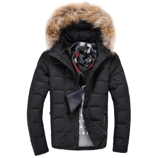 74.42$  Watch now - http://di07y.justgood.pw/go.php?t=200461508 - Zippered Faux Fur Knitted Hood Quilted Jacket
