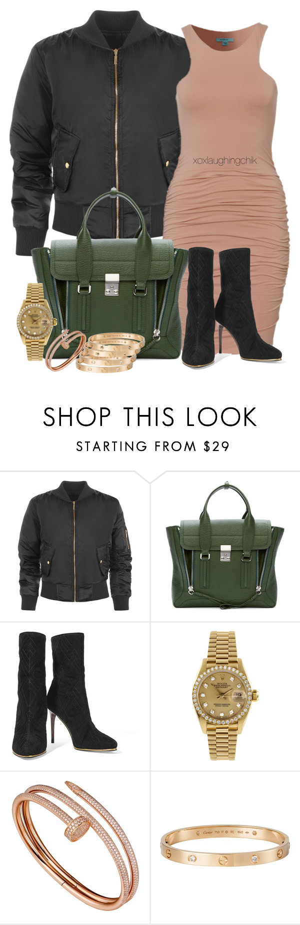 """Untitled #186"" by xoxlaughingchik ❤ liked on Polyvore featuring WearAll, 3.1 Phillip Lim, Balmain, Rolex, Cartier, women's clothing, women, female, woman and misses"