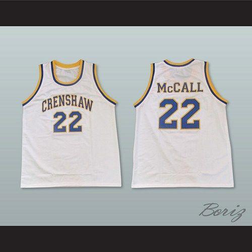 3eb4b405384e Quincy McCall 22 Crenshaw High School White Basketball Jersey ...