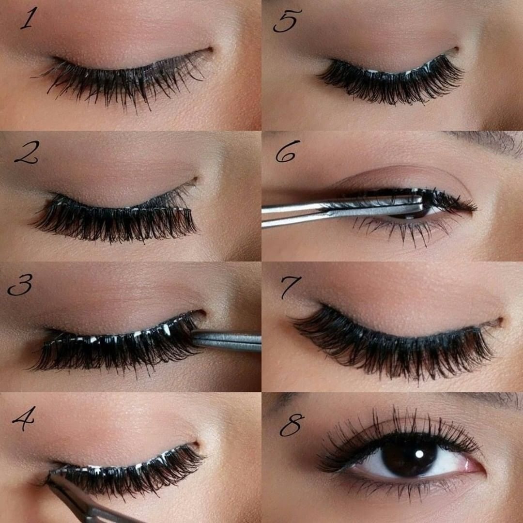 How to apply false lashes make them stay on
