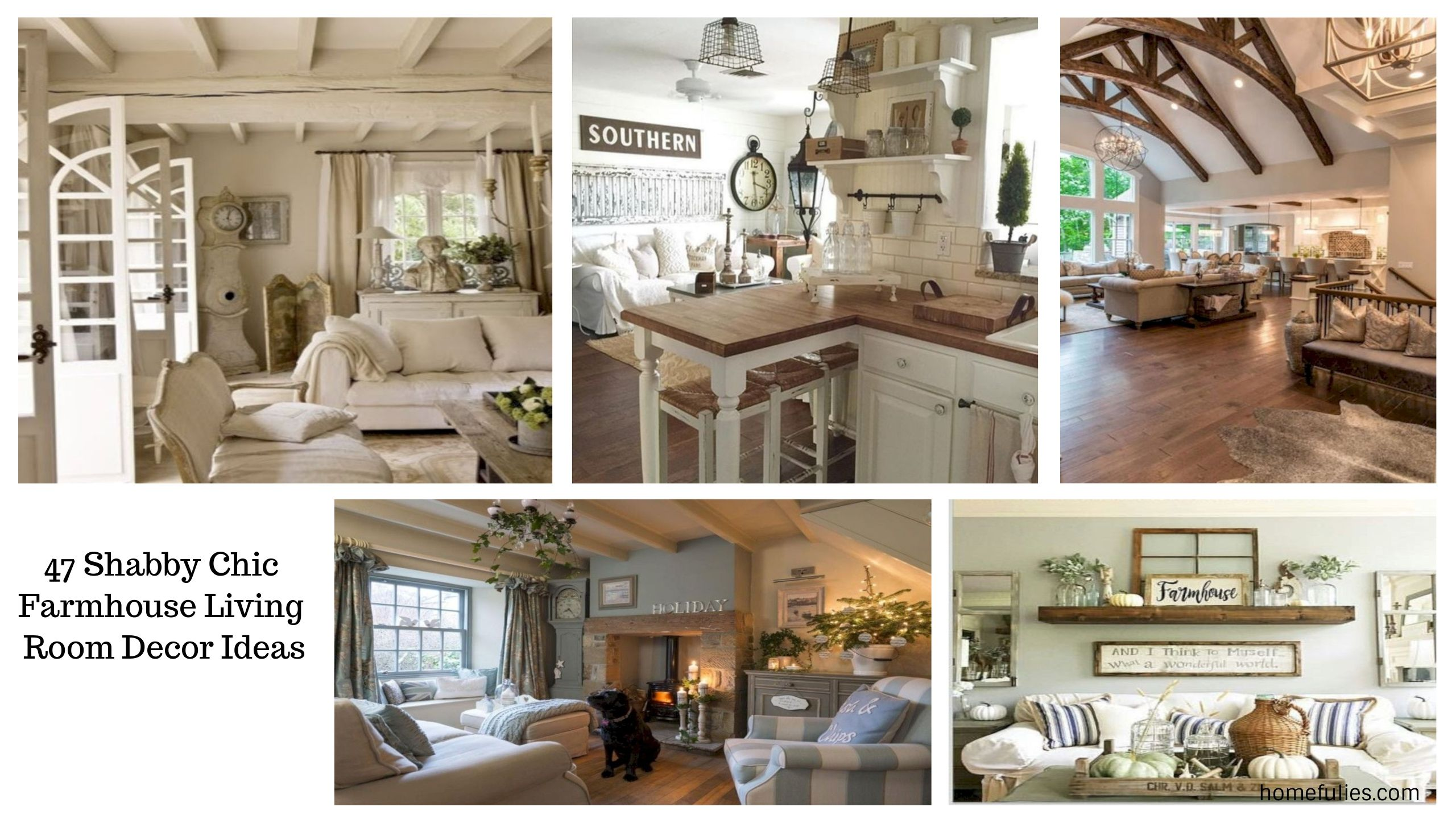 47 Shabby Chic Farmhouse Living Room Decor Ideas  Homefuliescom