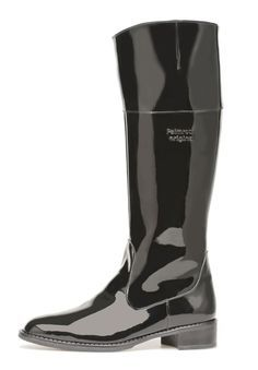 Pertti Palmroth ankle boot patent croco High quality shoes