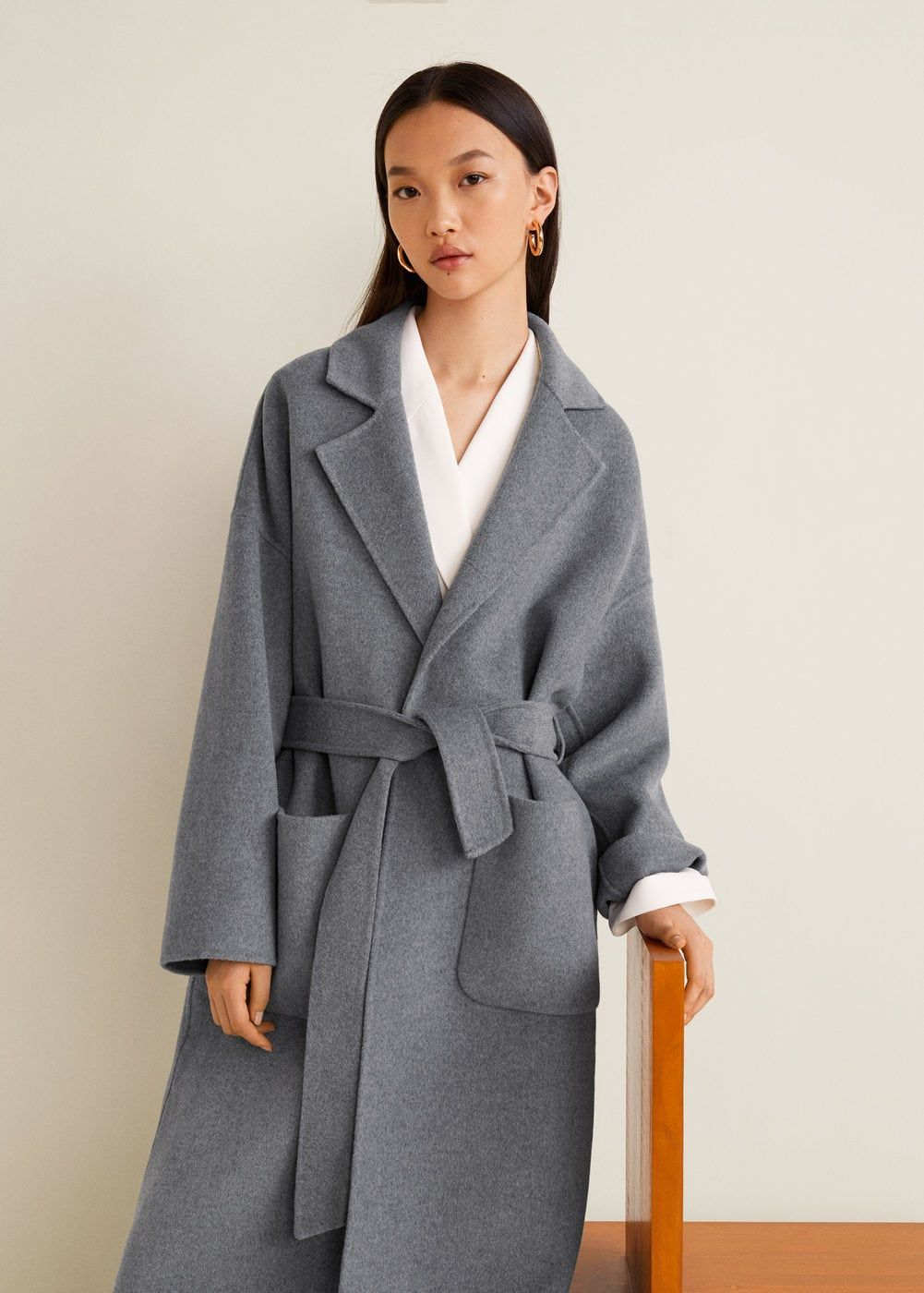 Unstructured wool blend coat Woman | Mango Estonia | Coats