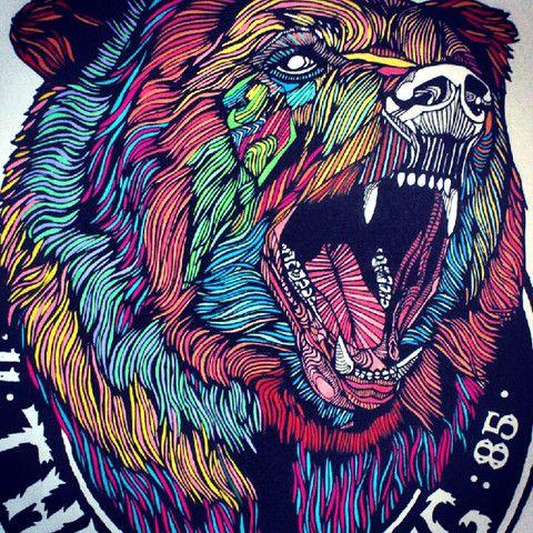 Bear No.2 // A3 Screenprint