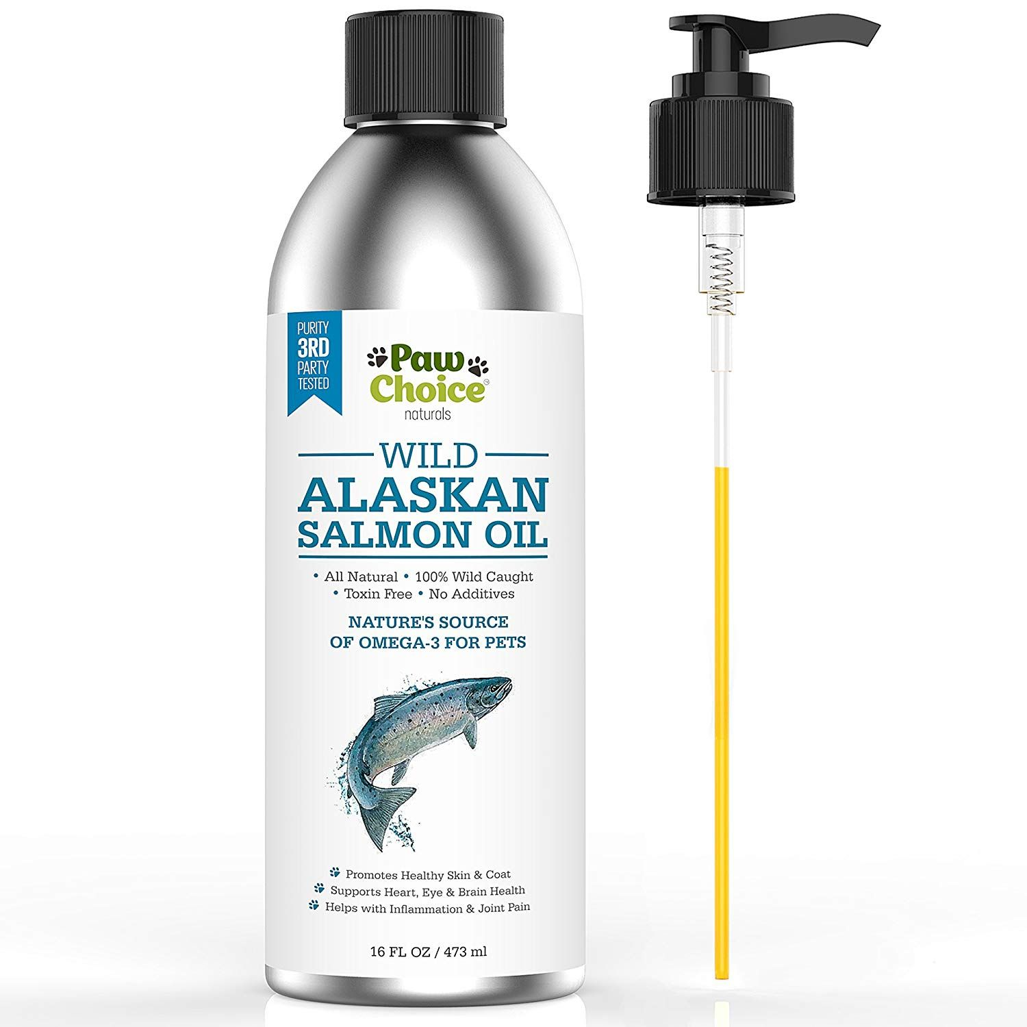 Wild Alaskan Salmon Oil for Dogs and Cats Best Omega 3