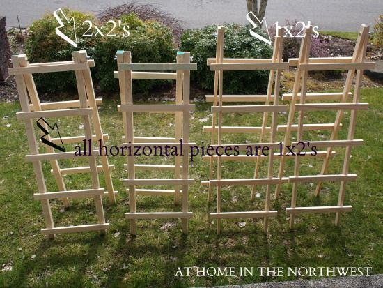 I think these may be the ticket. We can make it longer and only on ... - trellis designs for gardens