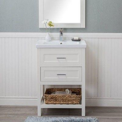 guest bathroom reveal + links to decor | bathroom vanity