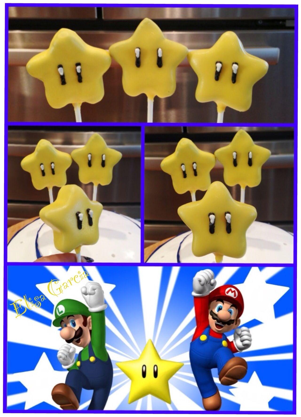 Super Mario Bros Star Cake Pop Star Cake Pops Holiday Cake Pop