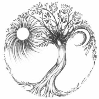 """""""Tree of Life"""" by Liza Paizis. If I ever wanted a large tattoo....this would be awesome!"""