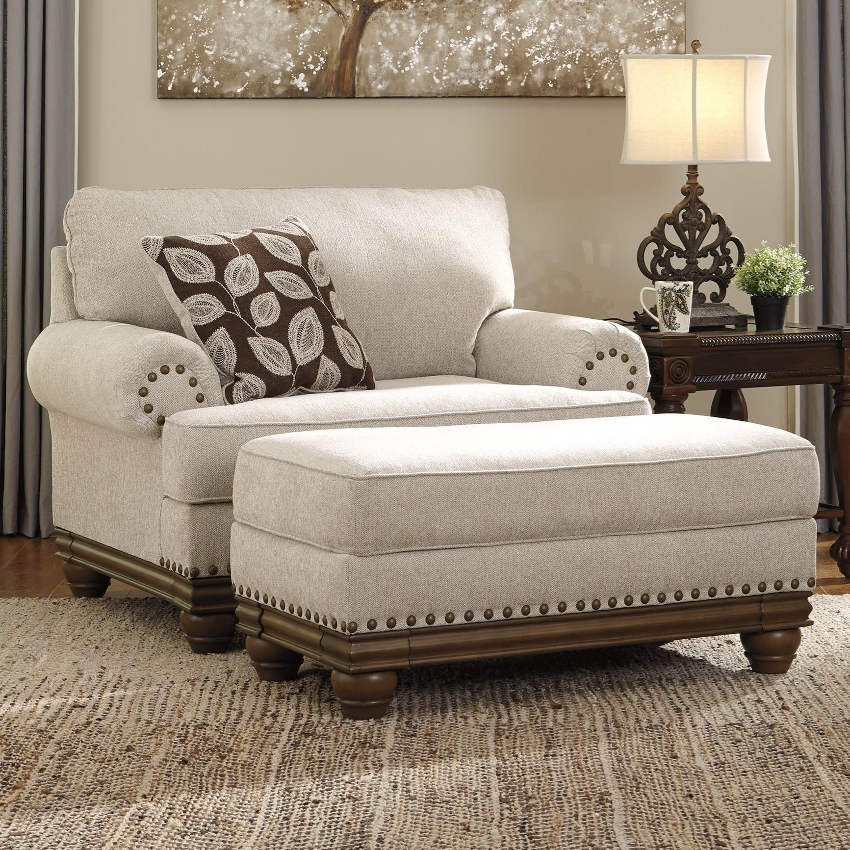 Best Harleson Transitional Chair And A Half Ottoman By 400 x 300