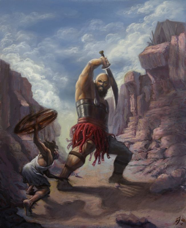 David Vs Goliath By Jthreat I Turn To God David