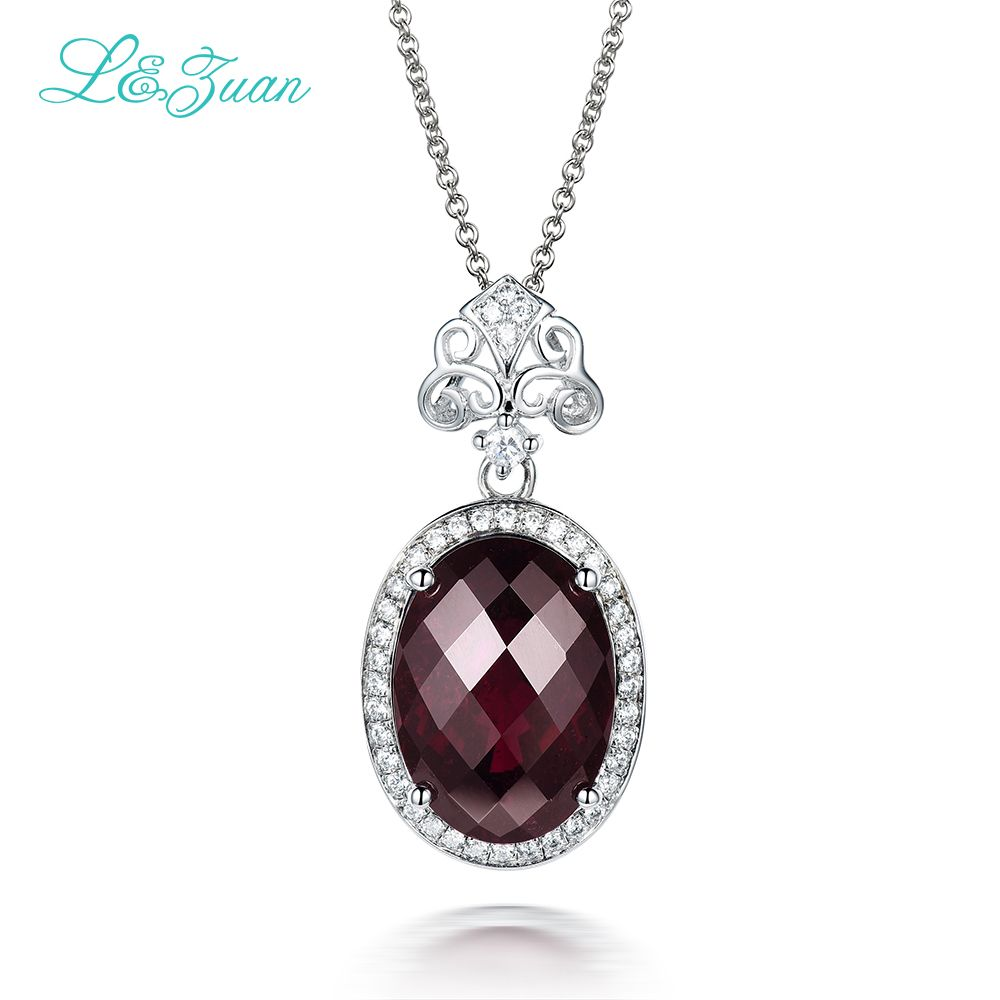 18K Rose Gold Plated Silver Pendant Forever Brilliant DEW Created Moissanite by Charles /& Colvard and Garnet GHI Heart Shape 0.50ct