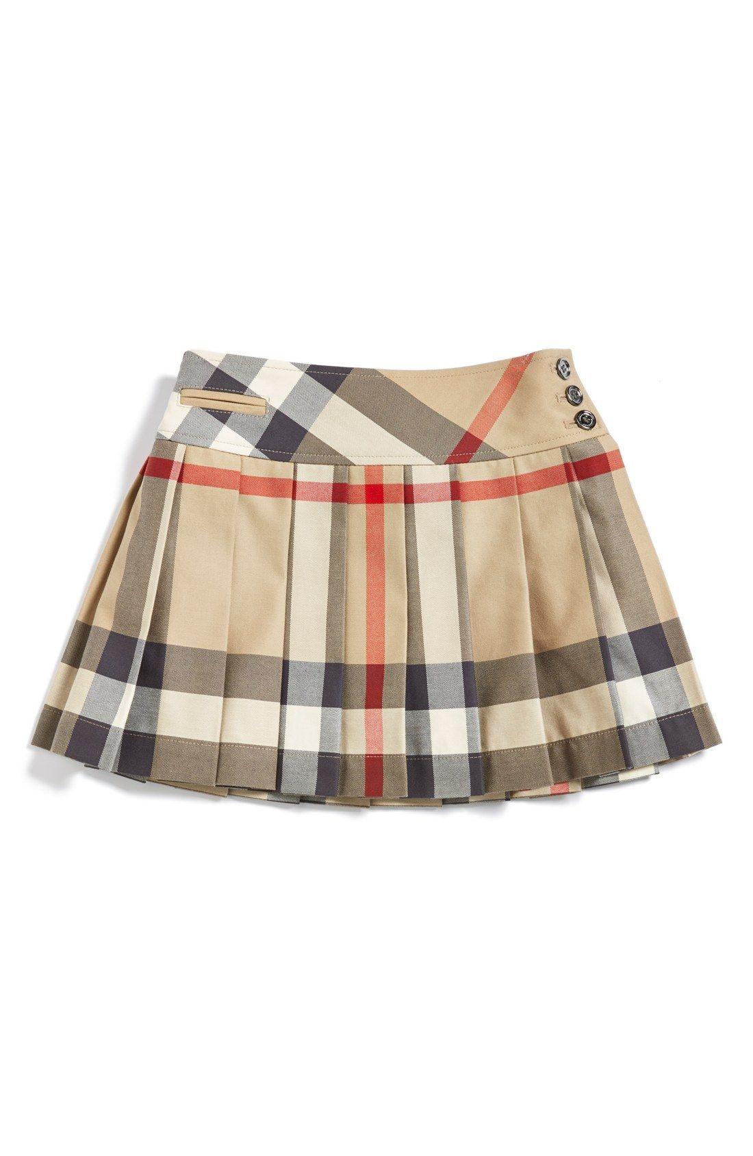 5fc7aba2ffd89 Burberry Check Print Skirt (Little Girls   Big Girls)