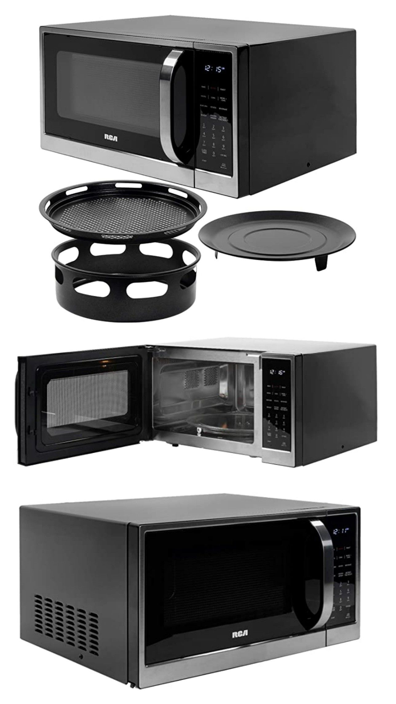 rca 1 2 cu ft microwave with air fryer