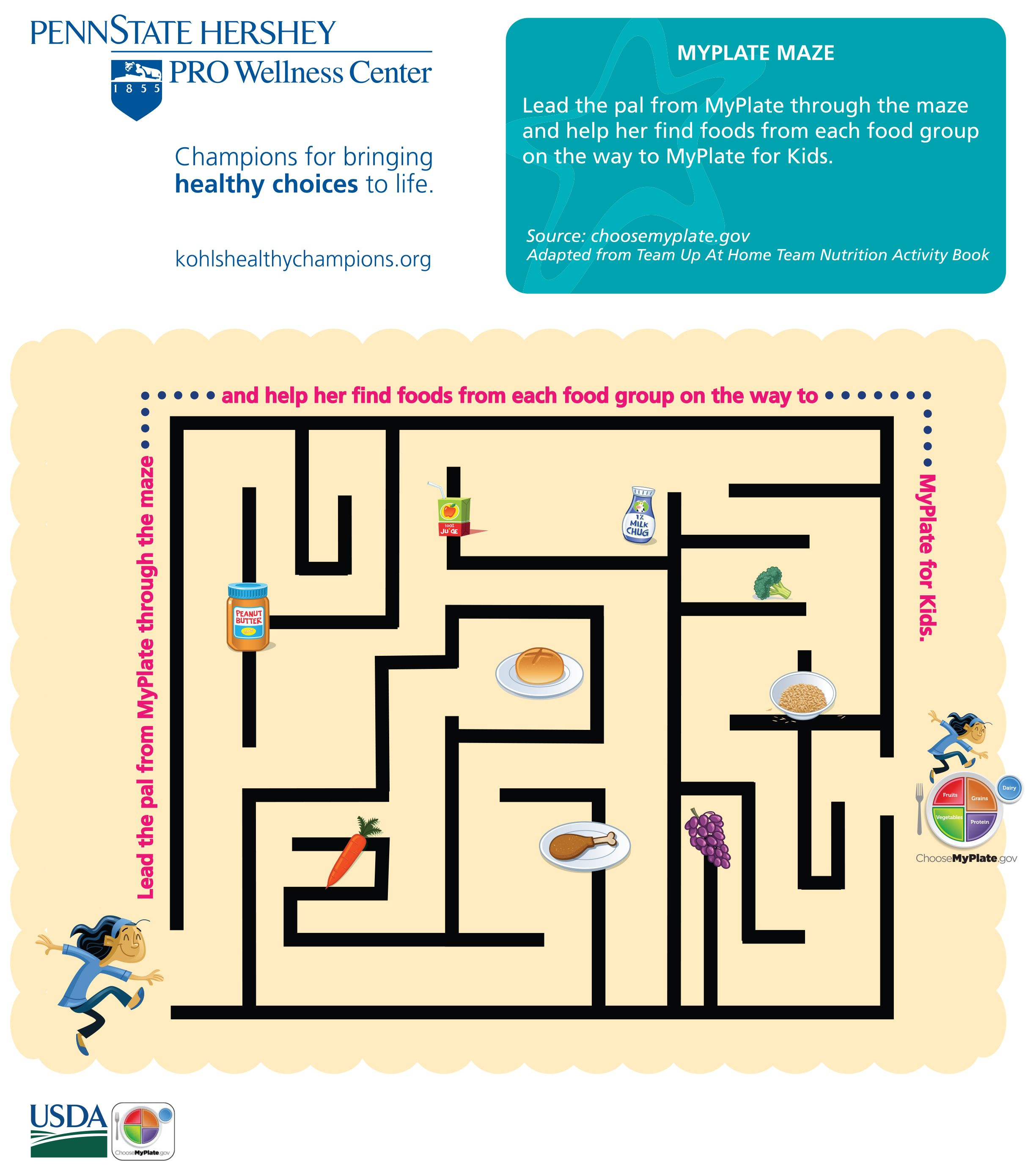 Healthy Food Maze
