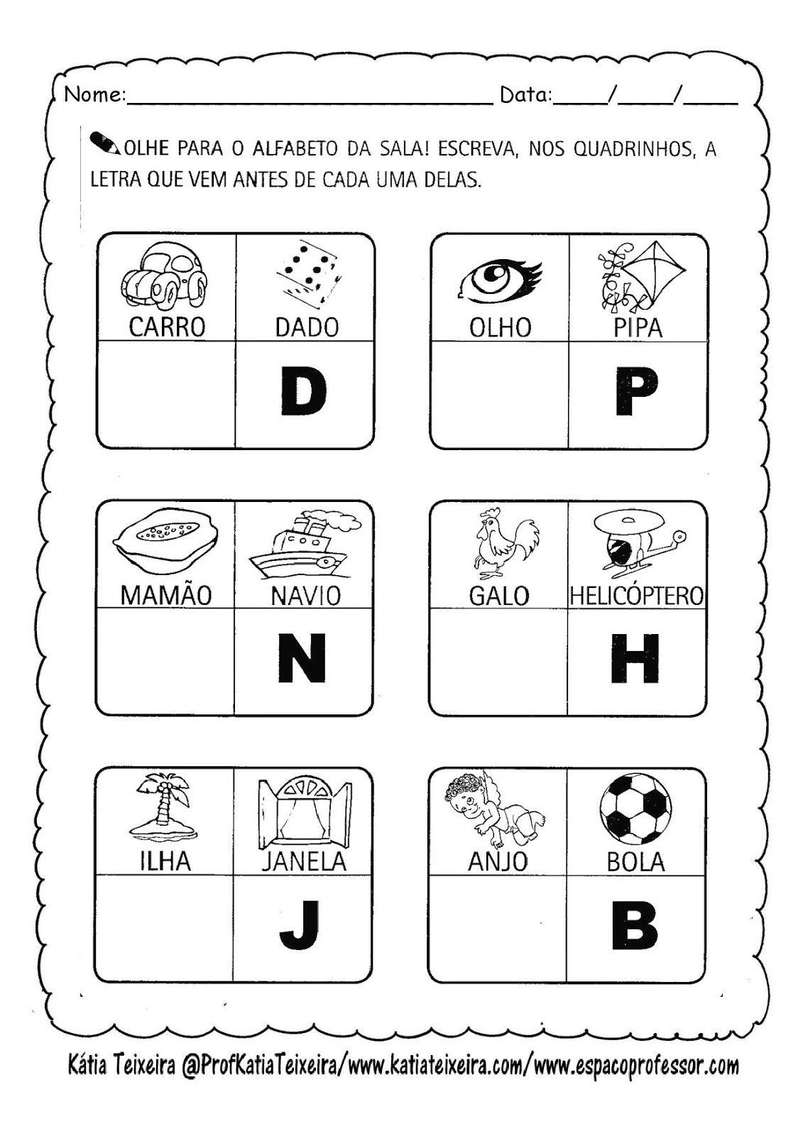 Teia Pedagogica Trabalhando O Alfabeto Letra Inicial Letr