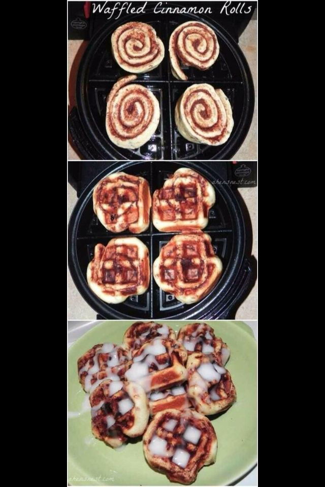 Cinnamon Waffles with icing