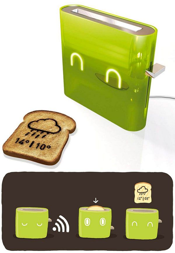 Toast that can tell you the weather!