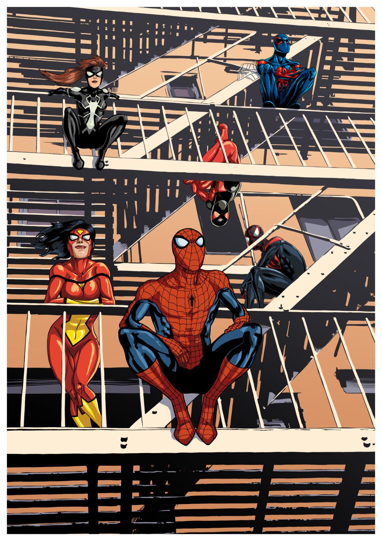Spiderman Fan Art Spider Family Spider Man Spider Woman Ultimate Spider Man Arachne Spider Girl The Scarlet Sp Spider Woman Marvel Spiderman Spiderman