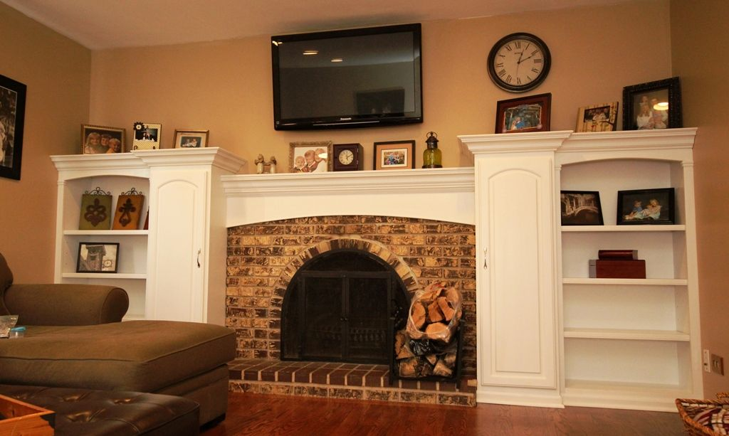 Fireplace Surrounds With Bookcases White Bookcase