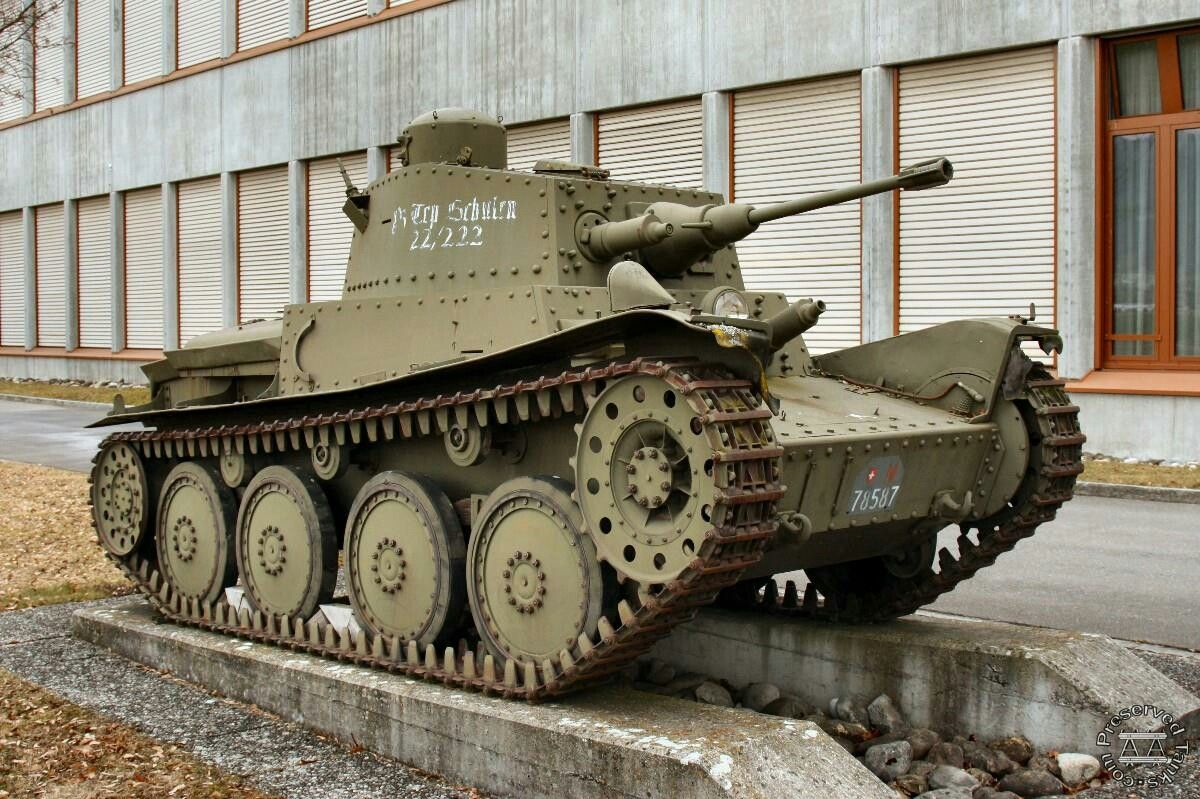 Panzerwagen 39 Light Tank , Panzermuseum, Thun, Switzerland