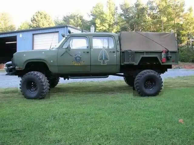 Military utility trailer retrofitted as truck bed  With