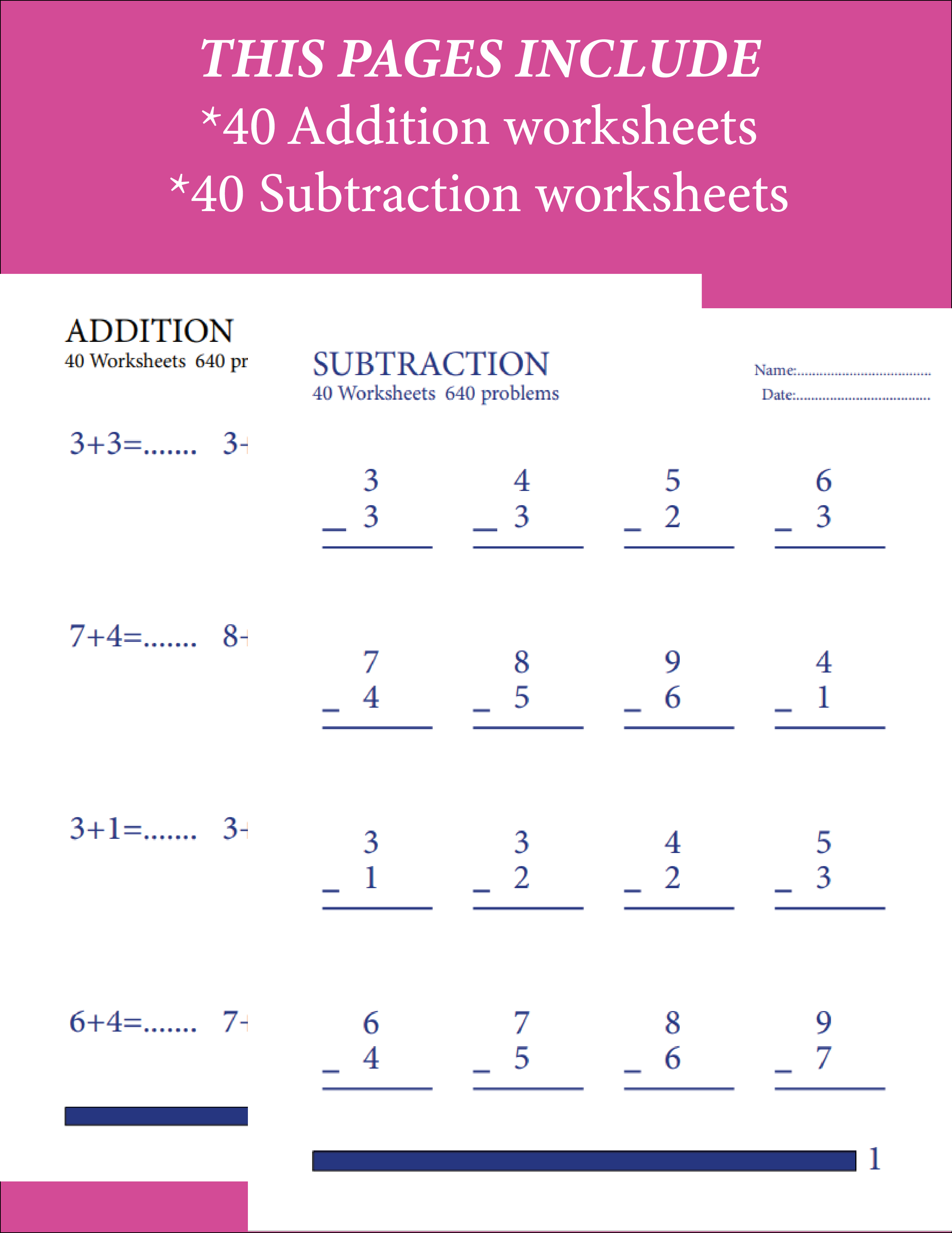 Addition Subtracrion Math 80 Worksheets 1280 Problems For Etsy Math Subtraction Worksheets Math Addition Worksheets Addition And Subtraction Worksheets [ 3300 x 2550 Pixel ]