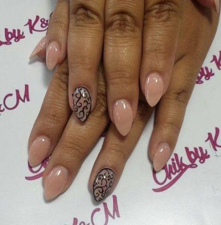 new nails shape almond sns 58 ideas nails  nail shapes