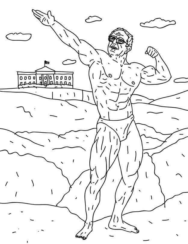 Buff Bernie Has Over 20 Pages Of Sanders Looking Err Very Presidential Coloring Books Coloring Book Set Bear Coloring Pages