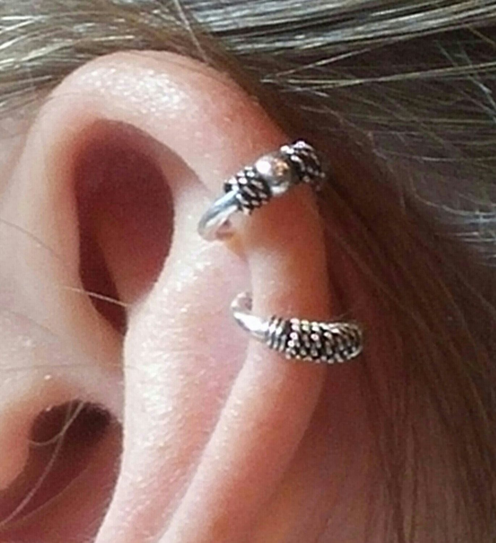 Fake Helix Piercing Fake Helix Fake Conch Fake Gauge Earring Hoop Conch Faux Fake Gauge Earrings Earrings