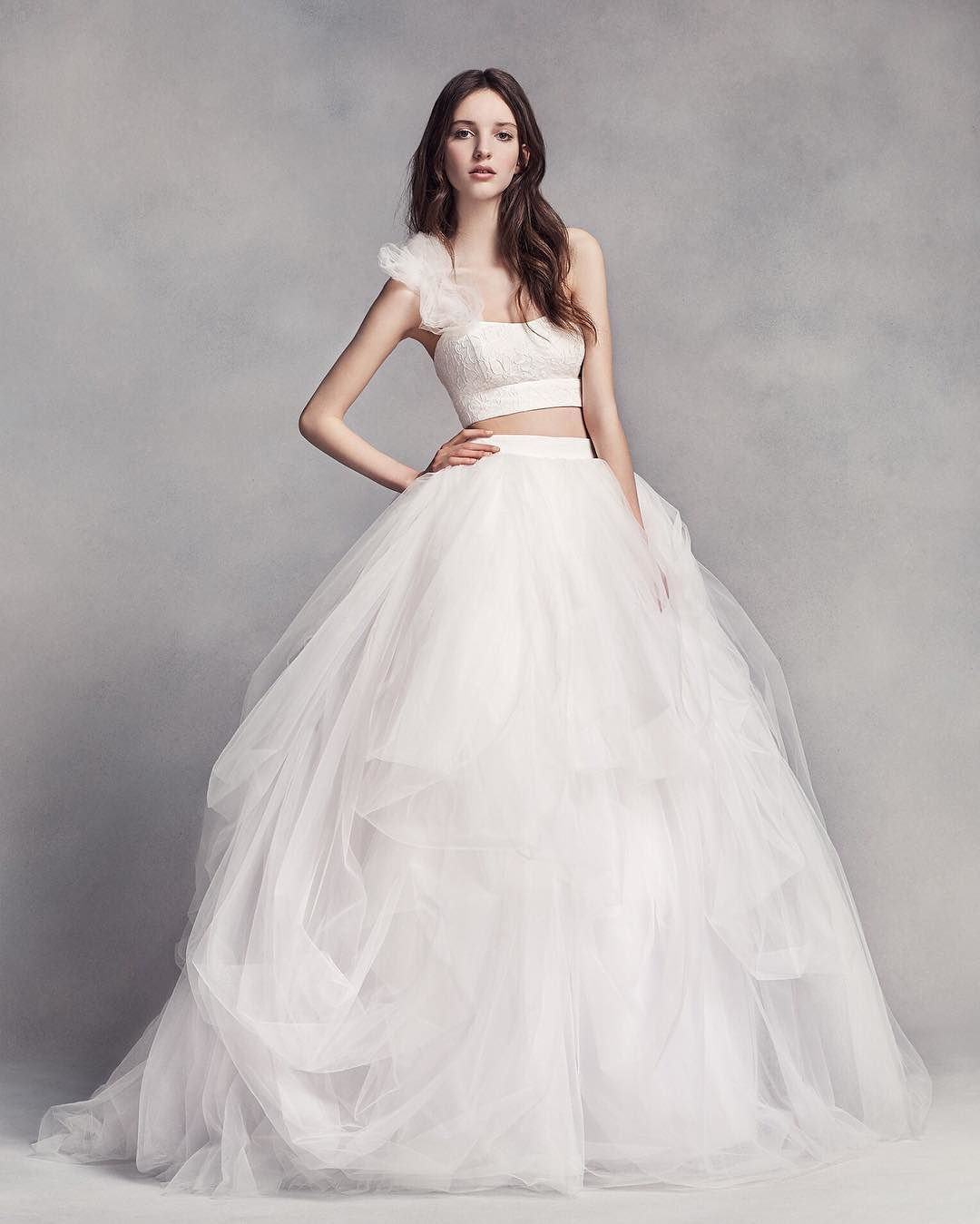 Design wedding dress  For the fashionforward bride chic separates like this White by