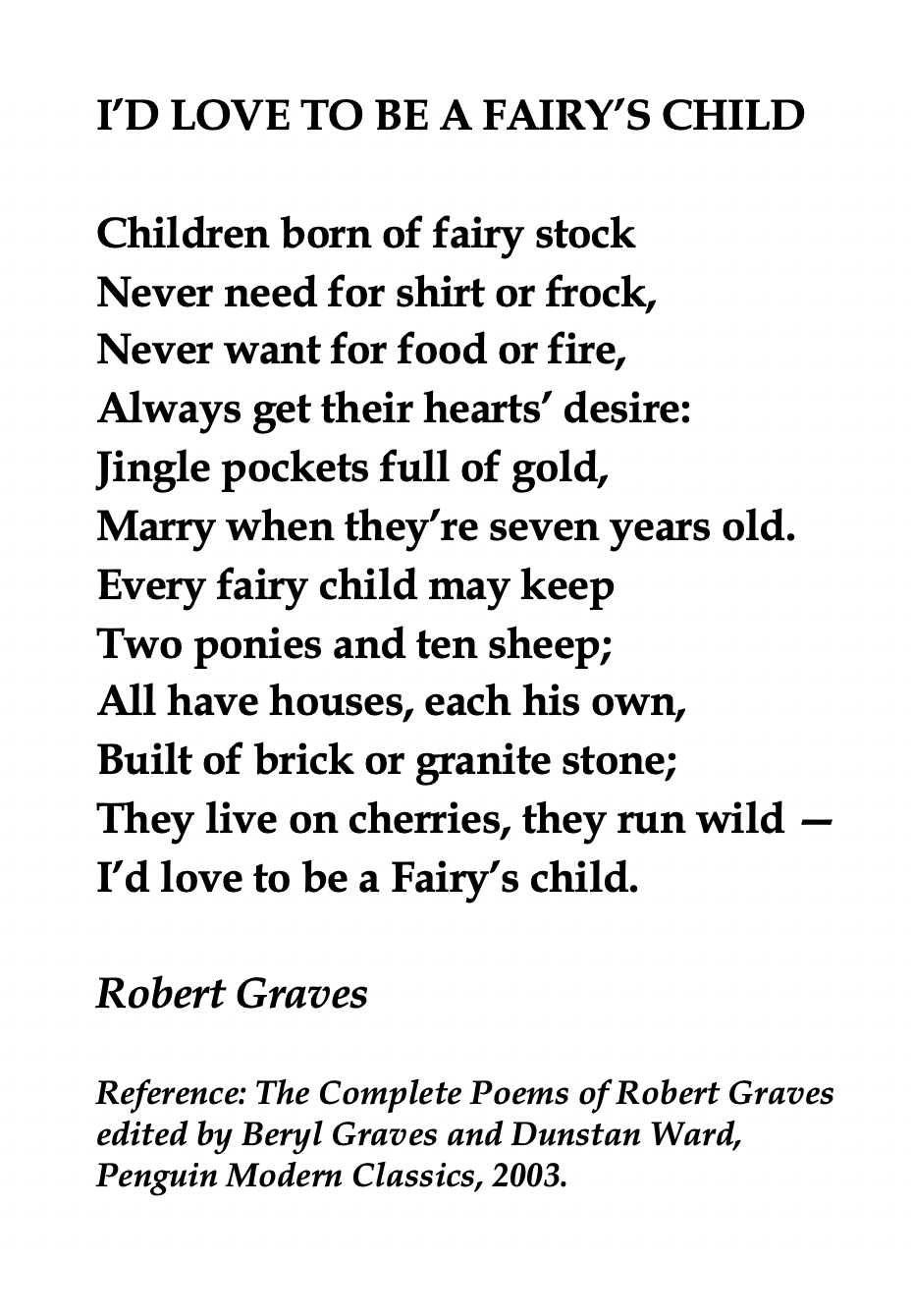 Robert Graves British Writer Kids Poems Modern Poetry Robert Graves